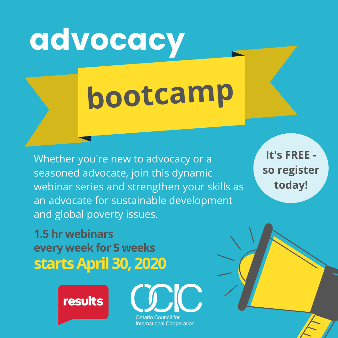 Advocacy bootcamp poster